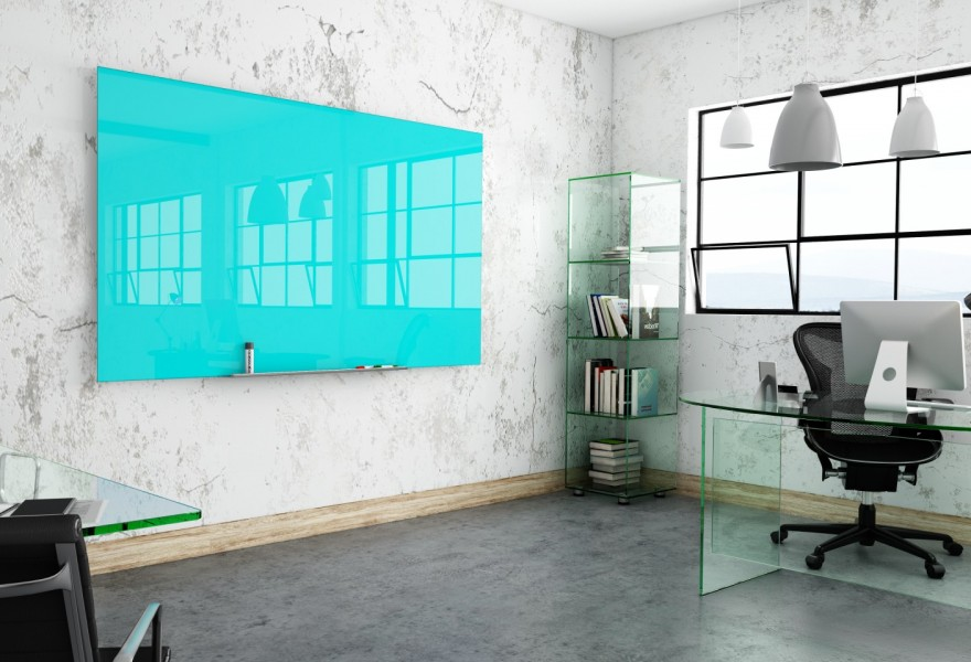 Glass whiteboards pure white standard or bespoke for Back painted glass marker boards
